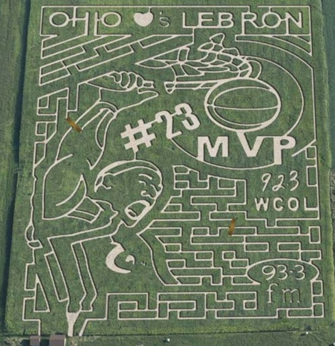Lebron Corn Maze