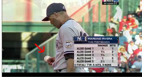 Mariano Rivera Spit on Ball4