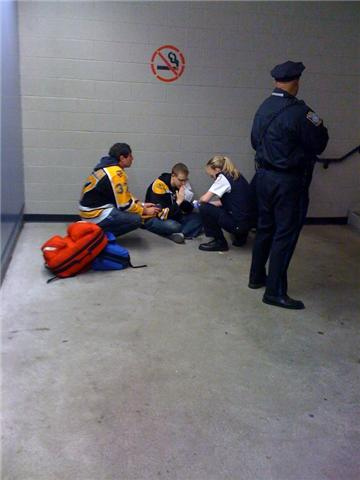 Puking Bruins Fan 2