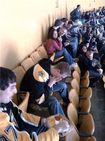 Puking Bruins Fan