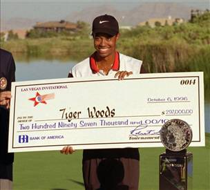 Tiger Woods Giant Check