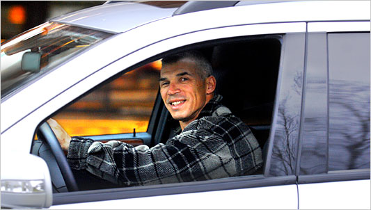 Joe Girardi in Car