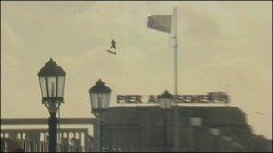 Kite Surfing Jump