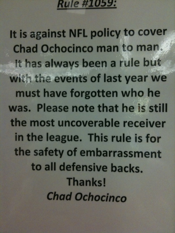 Ochochinco Rule