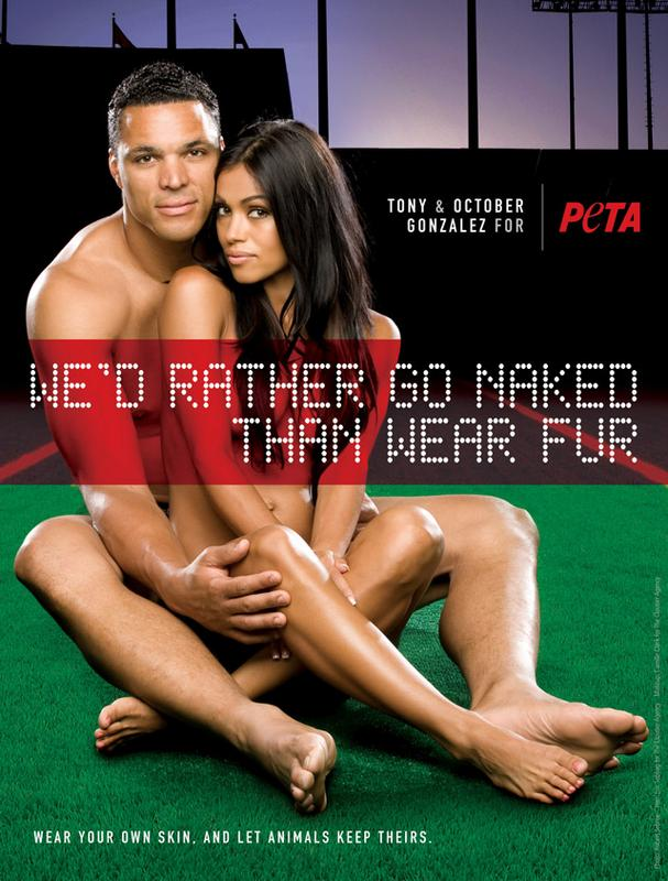 October and Tony Gonzalez PETA