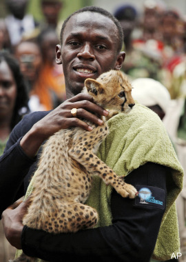 Usain Bolt - Cheetah cub